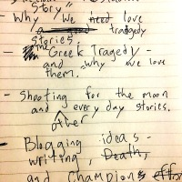 AIA#71 Very Bad Hand Writing, Death and other champion ideas for blogs